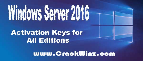 server 2016 standard activation key